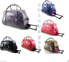 New Ladies Girls LYDC Travel Bag Holdall Shoulder Trolley Hand Luggage Bag