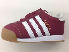 ADIDAS ORIGINALS SAMOA BURGUNDY WHITE GUM TODDLER BABY SIZE SNEAKERS C77221