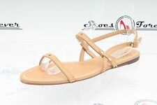 Womens TORY BURCH nude leather ankle strap sandals shoes sz. 9 M NEW!