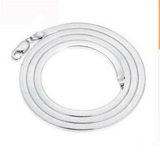 Fashion Men Women Silver Plated 4MM Snake  Necklace Chain Jewelry
