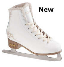 White SFR Glitra Women's Figure Ice Skates / Lined / Dancing on Ice Style NEW