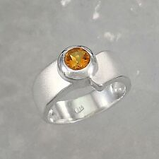 Jewelry-Michel ring silver citrine 925 0.5 carat - sizes 50 - 65 selectable