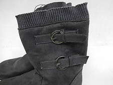 Girls' Faux Suede Boots with Buckles 27589