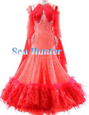 U4968 Feather fur Ballroom women Tango waltz standard dance dress Tailor made