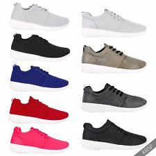 Womens Shiny Fashion Flat Trainers Wedge Sneakers Lace Up Pumps Plimsolls Shoes