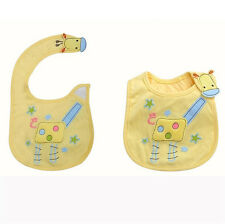 Baby Towel Saliva Durable Waterproof Kids Cartoon 3 Layer Toddler Lunch Bibs