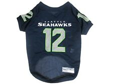 Seattle Seahawks NFL Dog Pet 12th Man Collector Jersey (sizes) Blue