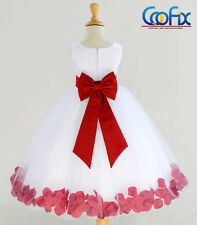 DELUXE IVORY FLOWER GIRL DRESS PAGEANT WEDDING BRIDESMAID DANCE PARTY CHRISTMAS
