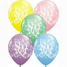 Baby Shower Heavenly 1x28cm Balloon Party Supplies Decoration Pink Blue Green