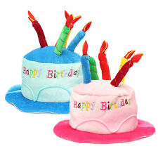 Novelty Happy Birthday Cake Candle Funny Hat Plush Cap Party Costume Cosplay New