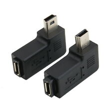 Micro USB 5 Pin Female to Male USB 2.0 A OTG Cable Converter 90 Degree Adapter