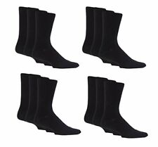 6 PAIRS OF MENS PLAIN COTTON MIX SOCKS IN BLACK OR MIXED COLOUR PACKS 6-11
