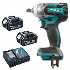 MAKITA 18V LXT DTW281 DTW281Z DTW281RFE IMPACT WRENCH AND 2 x BL1840, 1 x DC18RC