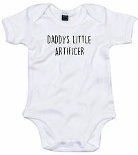 ARTIFICER BODY SUIT PERSONALISED DADDYS LITTLE BABY GROW GIFT