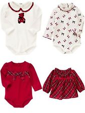 GYMBOREE Baby 0-3 3-6 or 12-18 Month Holiday Traditions Bodysuit Top Choice NWT