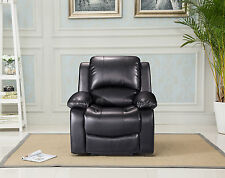 New Luxury Valencia Leather Electric or Manual Recliner Chair - Black or Brown