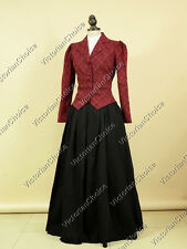 Victorian Downton Abbey Reenactment Riding 3PC Suit Dress Theater Clothing 166