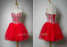 2015 Romantic Mini Cocktail Dress Ball Short Homecoming Party Prom Gown Size2-16