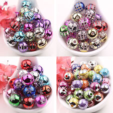 Lots 10/50Pcs Mixed Acrylic Round Spacer Loose Bead Charms Findings 10/12/14mm