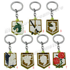 Attack on Titan Affiliation Corps & Wall Badge Key Ring Chain GN