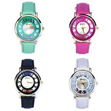 2015 HOT Classic Hollow Lady Womens Analog Quartz Leather Wrist Watch WHOLESALE