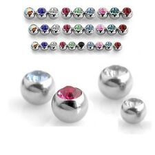 Spare Gem Balls - Tragus Labret Crystal Cartilage Earring Ear 1.2mm - 3mm 4mm