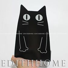 Animals Black Cat Metal Bookends / Book Stand for Kids 1pair (2pcs) ~14.5x21H cm