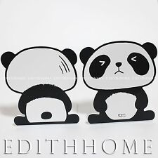 Animals Panda Metal Bookends / Book Stand for Kids 1pair (2pcs) -15W x 18H cm