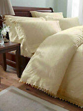 Cream Vintage Lace Broderie Anglaise Bedding / Duvet Cover Set