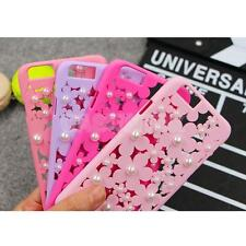 Hollow Out 3D Bling Daisy Flower Pearl Case Cover for iPhone 6 Plus All colors