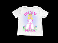 GIRLS PERSONALISED PRINCESS T-SHIRT TOP 3 4 5 6 7 YEARS GIFT IDEA