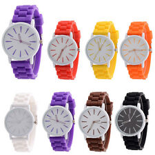 Fashion Unisex Watch Silicone Rubber Strap Casual Quartz Analog Men Wrist Watch