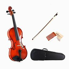 ADM All Solid Student Acoustic Violin Starter Kits, Traditional Red Brown Finish