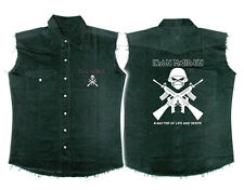 Official Iron Maiden - Crossed Guns - Sleeveless Work Shirt