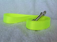 Fluorescent Yellow Dog Lead 19mm or 25mm Wide 1m or 1.5m Long NP Fittings