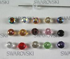 6 pieces Swarovski Elements 5040 6mm RONDELLE Spacer Beads - Pick Colors Effects