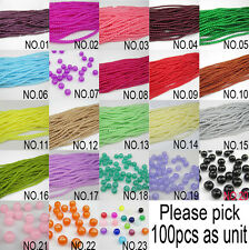 New 100pcs Ball Loose Round Glass crystal 4mm Beads for Fit Bracelets Necklaces