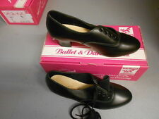 Black leather Katz cuban heel oxford character/tap dance shoes - various sizes