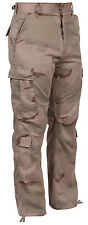 military bdu pants tactical cargo fatigues tri color desert camo rothco 9815