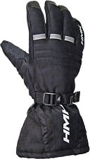 HMK Mens Voyager Insulated Textile Gauntlet Snowmobile Gloves with Goggle Wipe