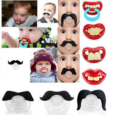 Baby Funny Dummy Prank Pacifier Novelty Teeth Children Lip Soother Nipple Beard