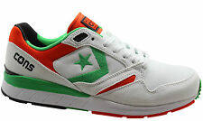 Converse Wave Racer Ox Mens Low Trainers White Green Orange Lace Up 147447C U29