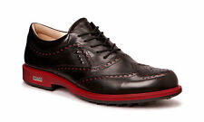 ECCO Mens Classic Tour Hybrid Wing Tip Black Waterproof Leather Golf Shoes