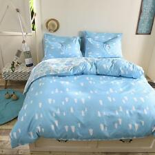 Blue Trees Single Double Queen King Size Bed Set Pillowcases Quilt Duvet Cover