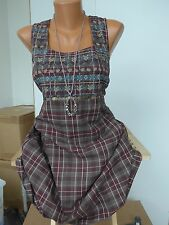 Sheego Long Blouse Tunic Dress Size 40 - 58 Checked patterned (646) NEW