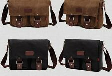 Men's Messenger bag canvas bag retro canvas shoulder bag student bag leisure bag