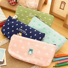 Students Pen Pencil Case Canvas Bag Cosmetic Makeup Pouch Coin Purse Popular New