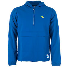 Adidas Originals Mens Pullover Windbreak Zip Jacket Tracksuit Blue (#9683)