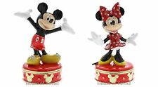 DISNEY MICKEY AND MINNIE MOUSE DIE CAST METAL TRINKET GIFT BOX ORNAMENT