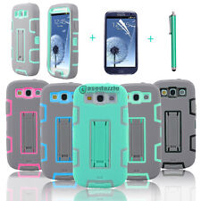 Shockproof Hybrid Rubber KickStand Hard Case Cover For Samsung Galaxy S3 i9300